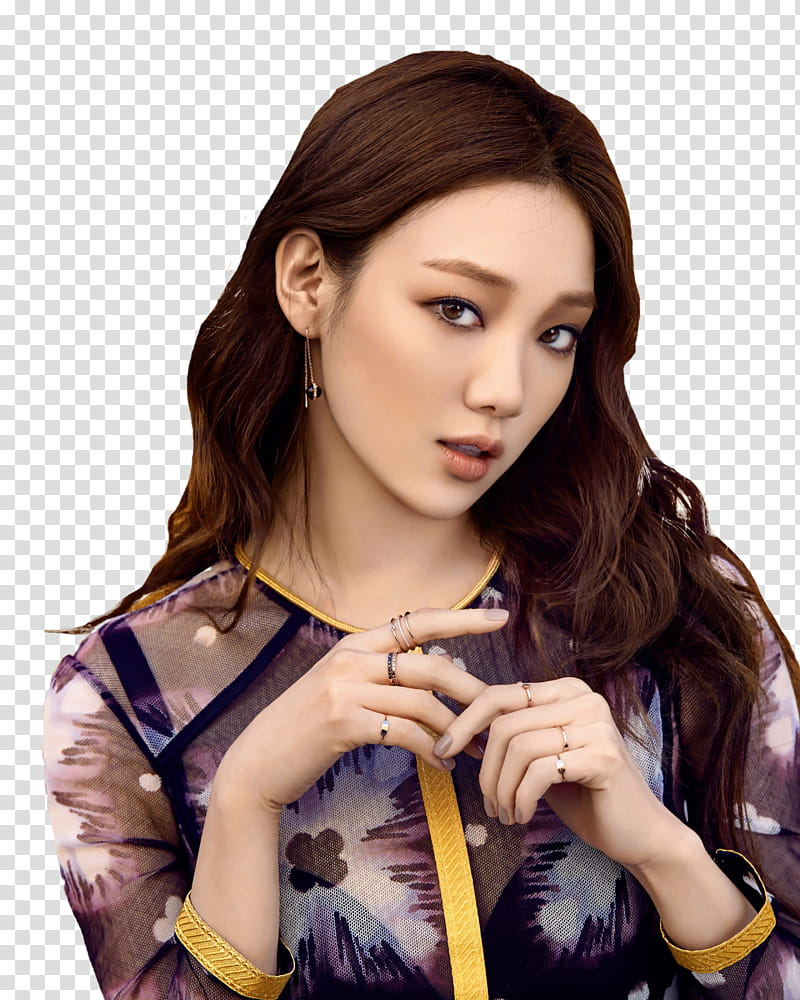 Lee Sung Kyung Sure, woman in black and grey floral blouse.