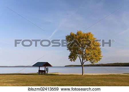 Stock Photograph of Lakeside, Leech Lake, Walker, Minnesota, USA.