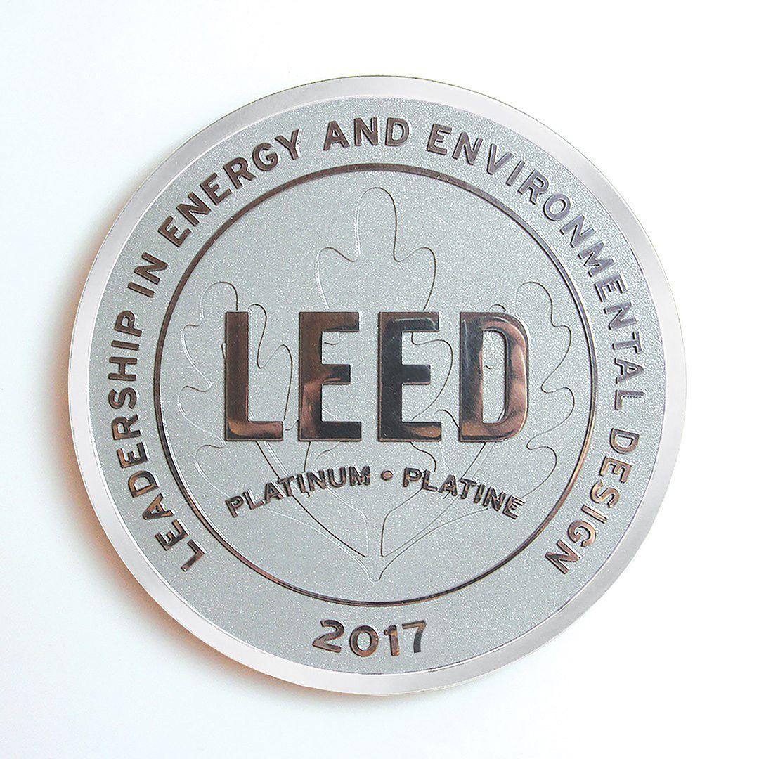 Premium LEED Plaque.