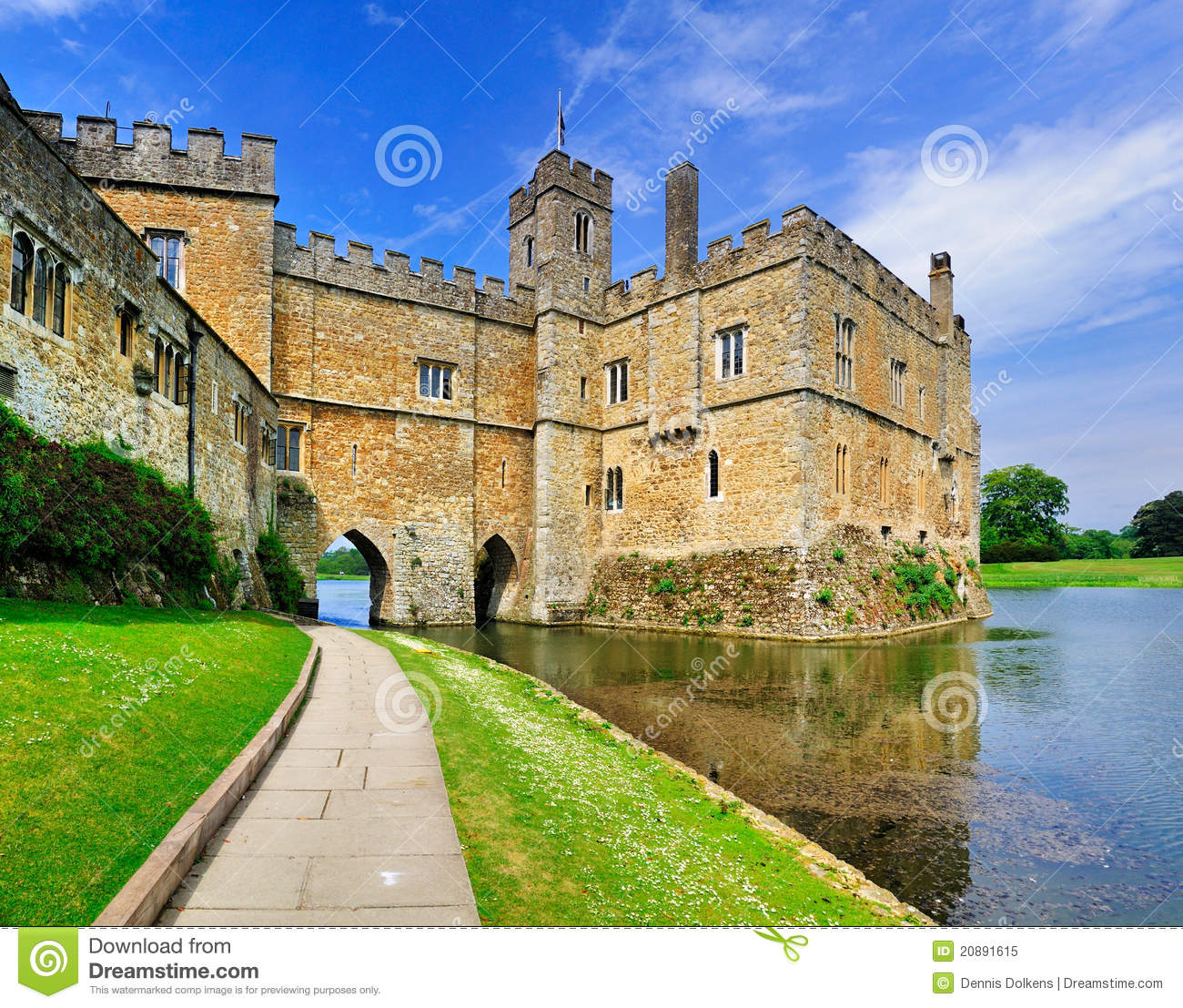 Leeds Castle, England Stock Images.