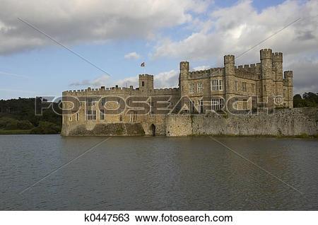 Stock Photo of Leeds castle k0447563.