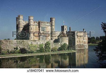 Stock Photography of Leeds Castle, Leeds, near Maidstone, Kent.