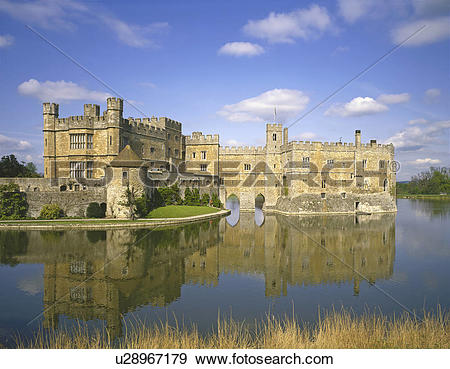 Stock Photograph of England, Kent, Maidstone, Reflections in the.