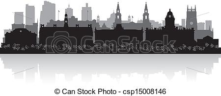 EPS Vector of Leeds city skyline silhouette vector illustration.