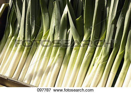 Picture of Crate of leeks 097787.