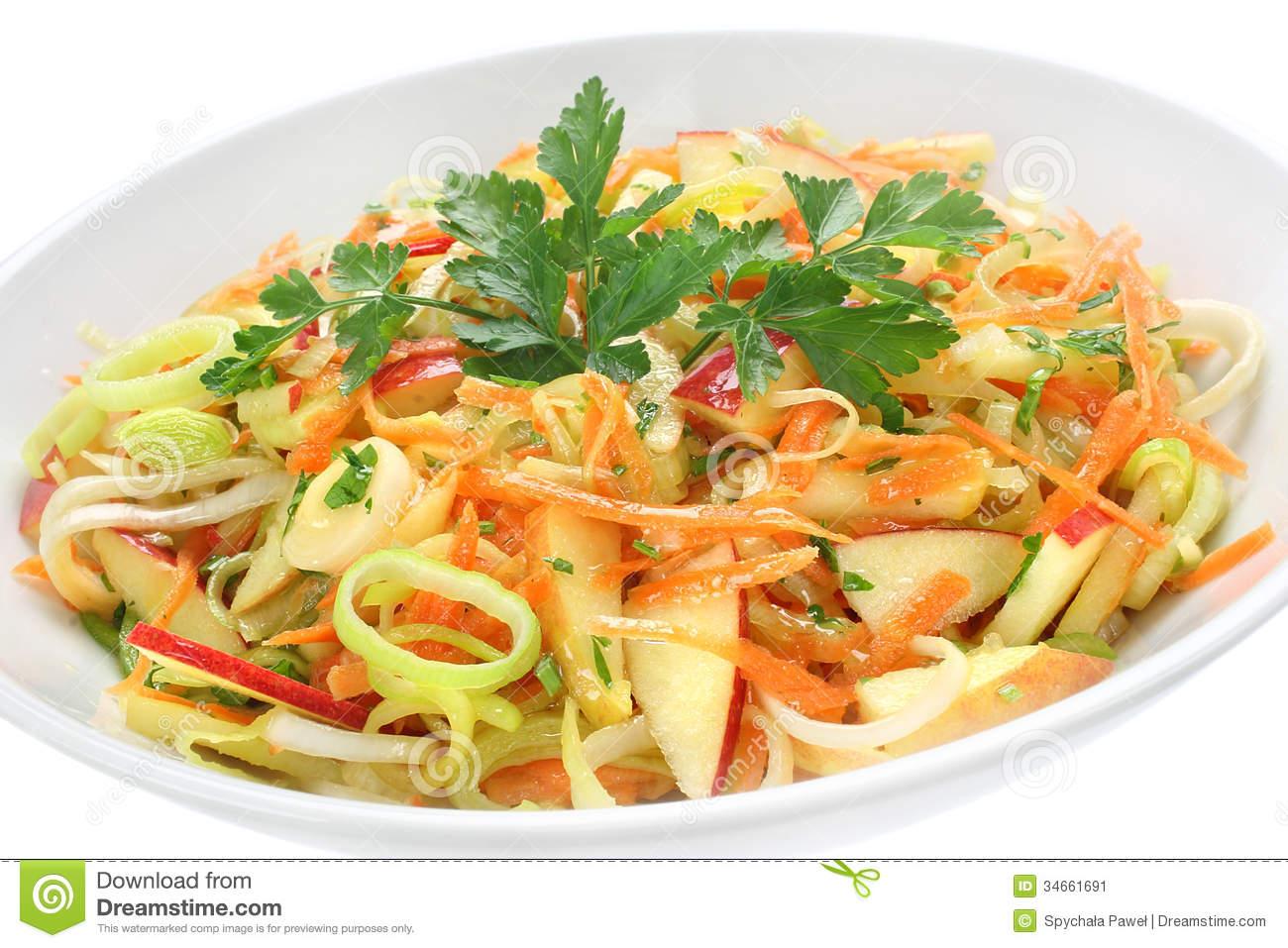 Salad With Leek Stock Image.