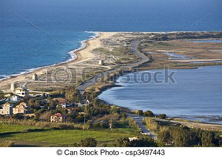 Stock Photos of Ai Giannis (Gyra) beach at Lefkada, Greece.
