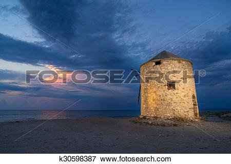 Picture of Old windmill ai Gyra beach, Lefkada k30598387.