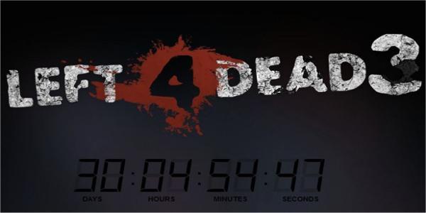 Left 4 Dead 3 Countdown Website, Teaser Video Surface.