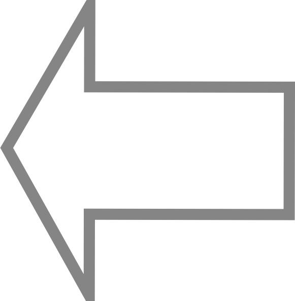 Left Outline Arrow clip art Free vector in Open office.