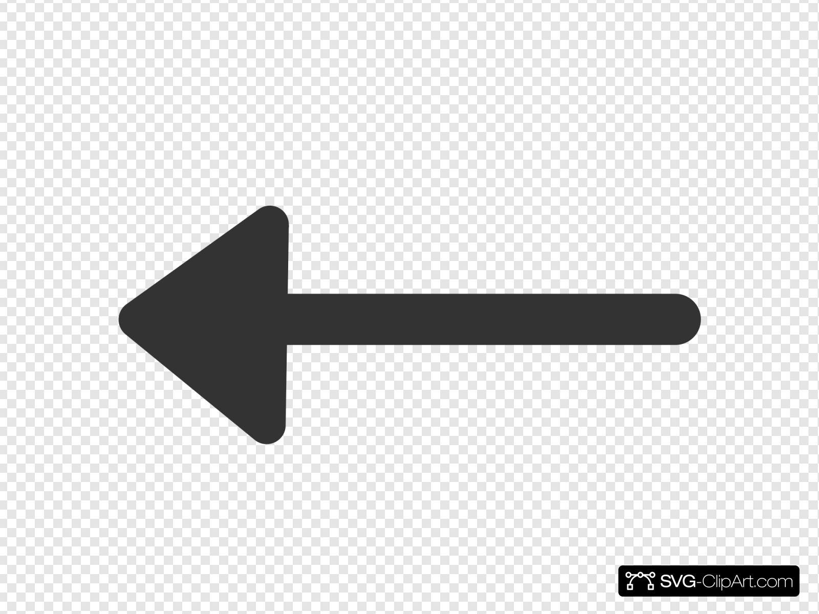 Left Arrow Clip art, Icon and SVG.