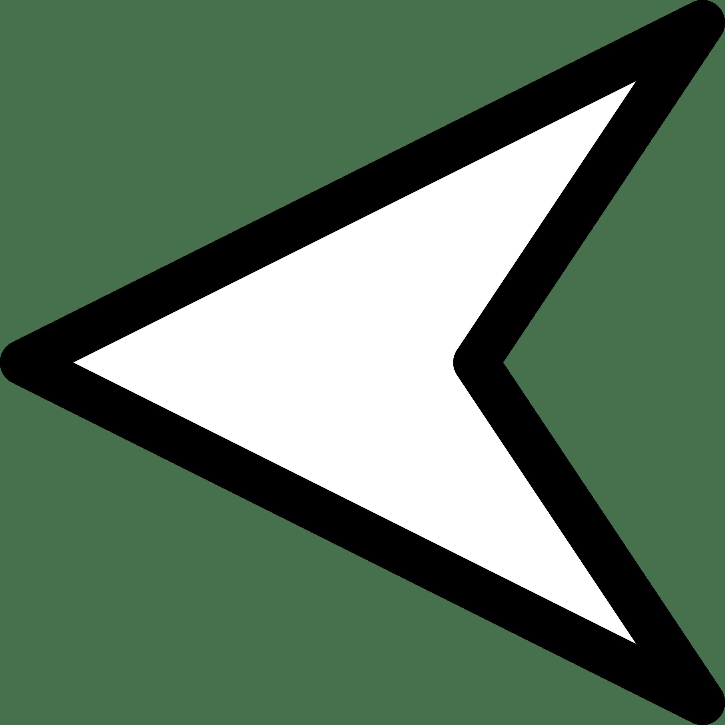 Triangle Arrow Left transparent PNG.