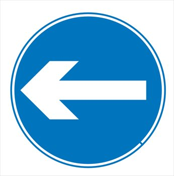 Turn Left Clipart.