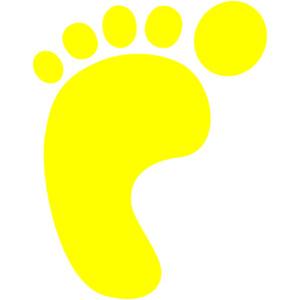 Left foot clip art.