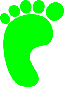 Green Left Foot Clip Art at Clker.com.