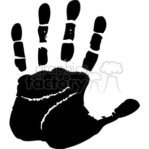left handprint clipart. Royalty.