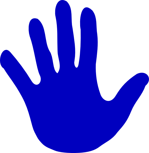 Handprint Clipart Large Hand Left Hand.