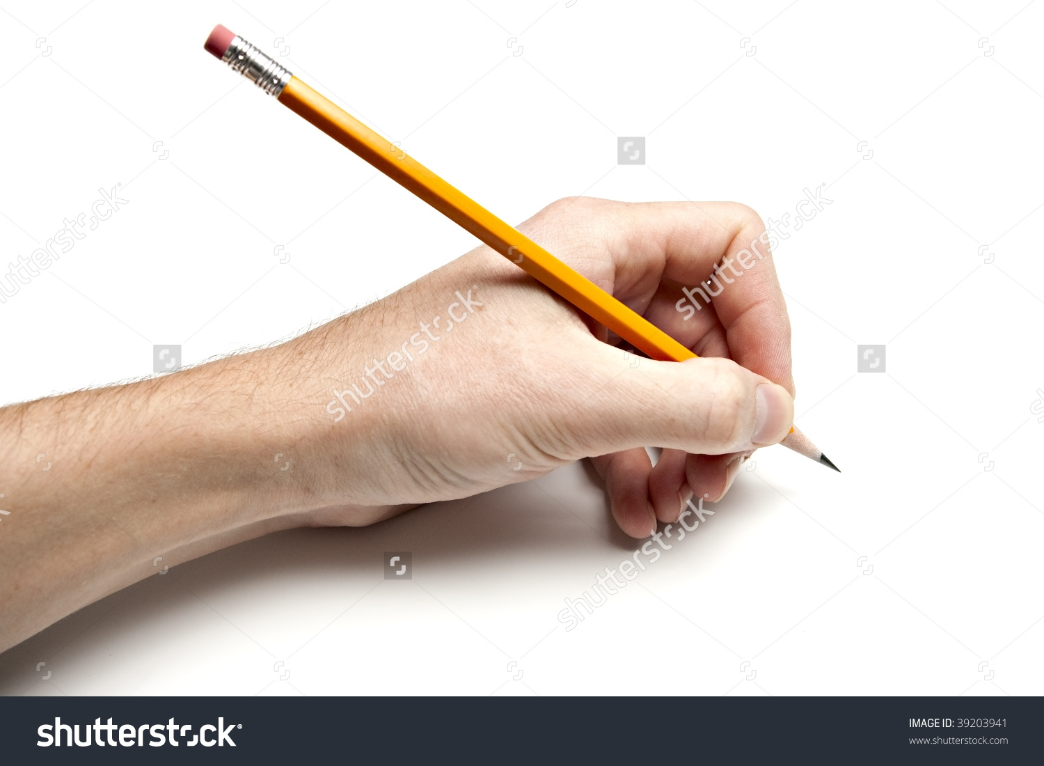 Left Hand Writing Clipart.