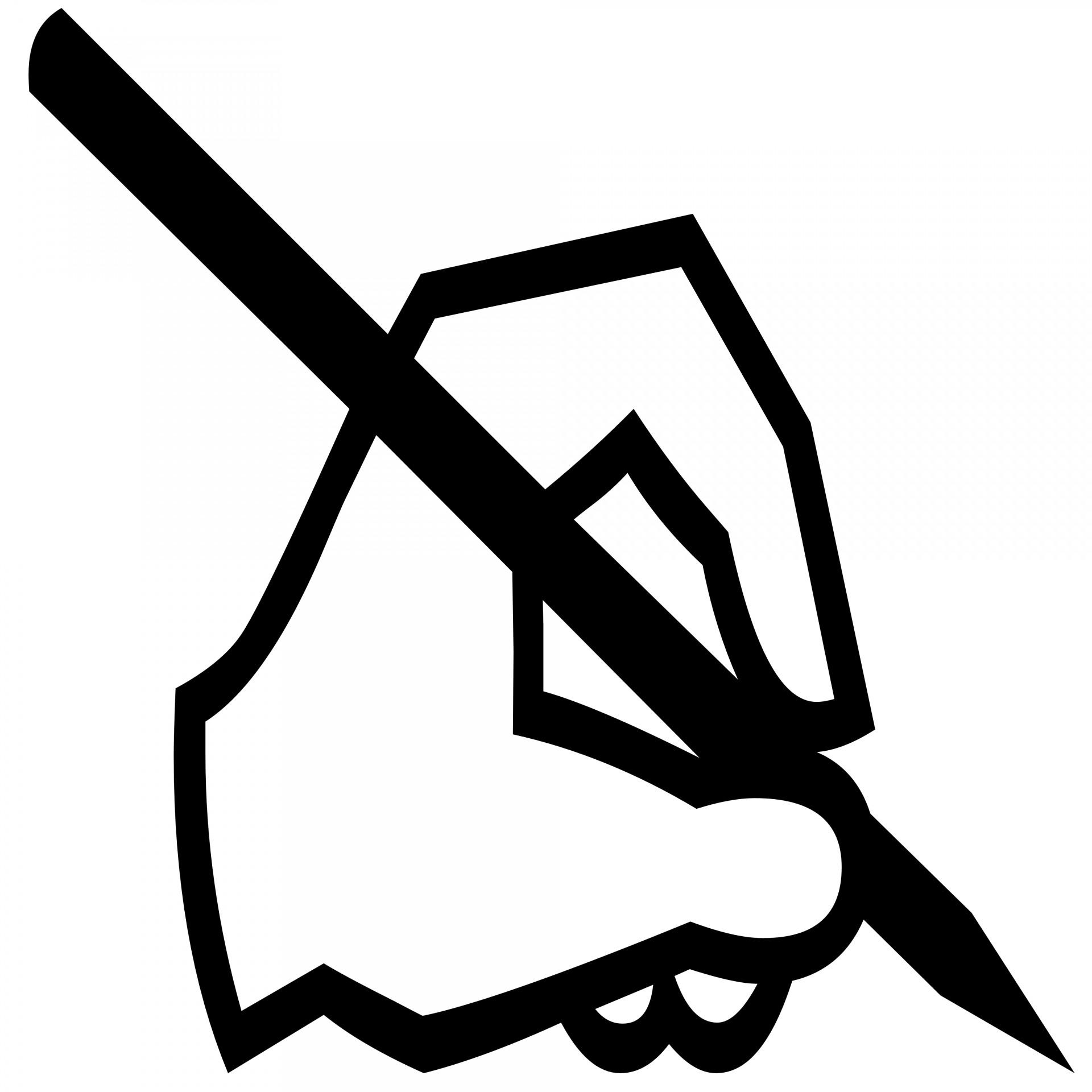 Writing Left Hand Silhouette Free Stock Photo.
