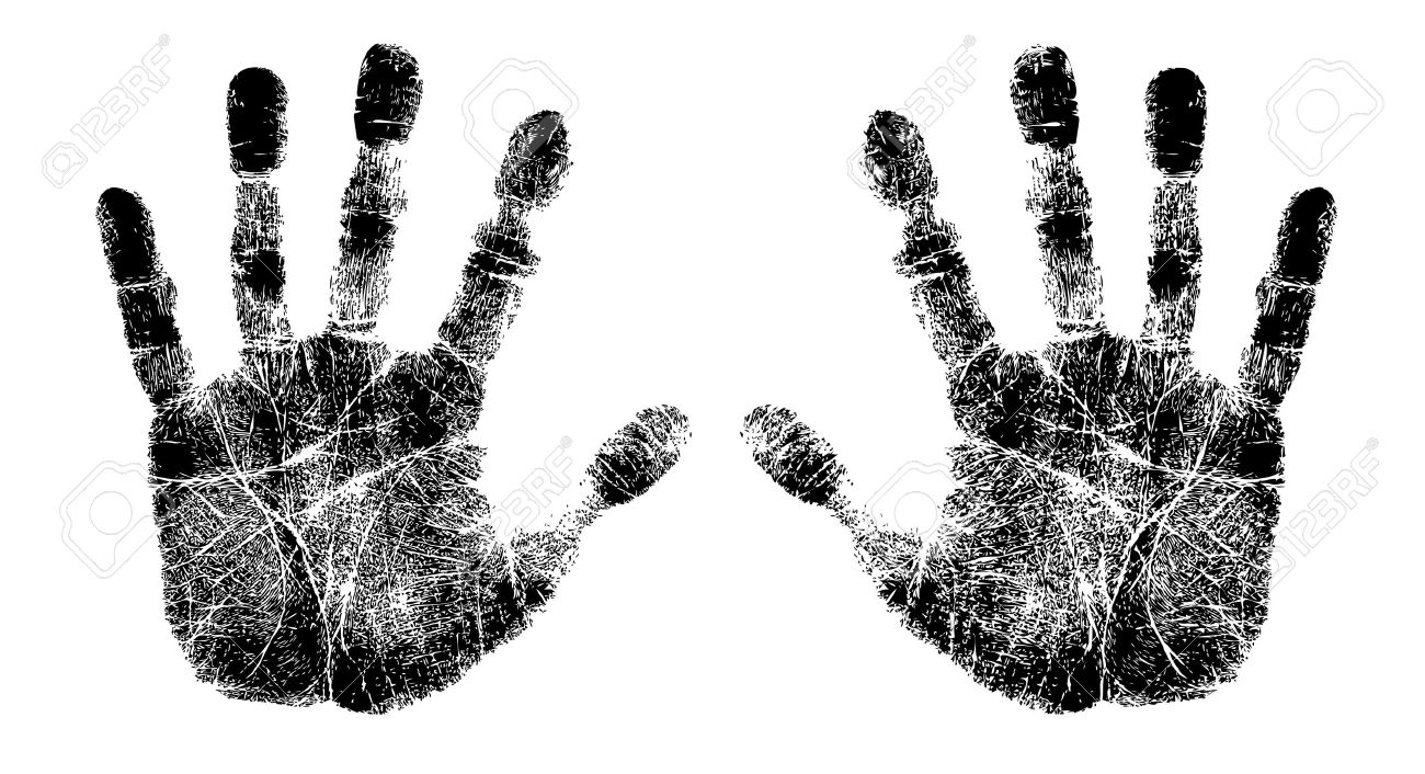 left and right hand print.