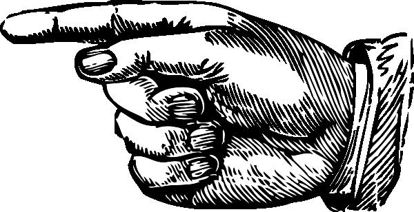 Clipart Finger Pointing Left.