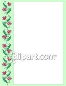 Side Flower Border.