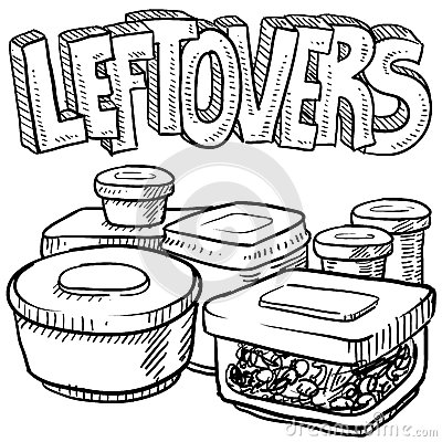 Food in a leftover bag clipart.