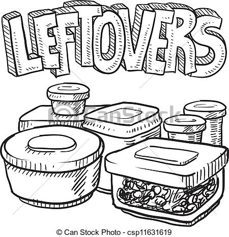 Food leftovers clipart.