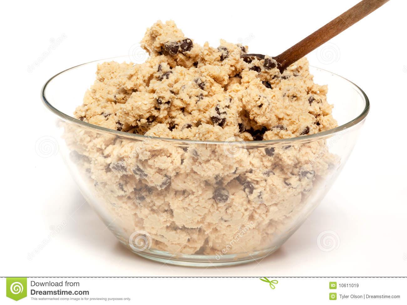 Cookie Dough Bowl Stock Photos.