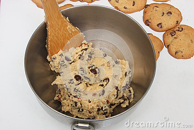 Cookie Dough Bowl Royalty Free Stock Images.