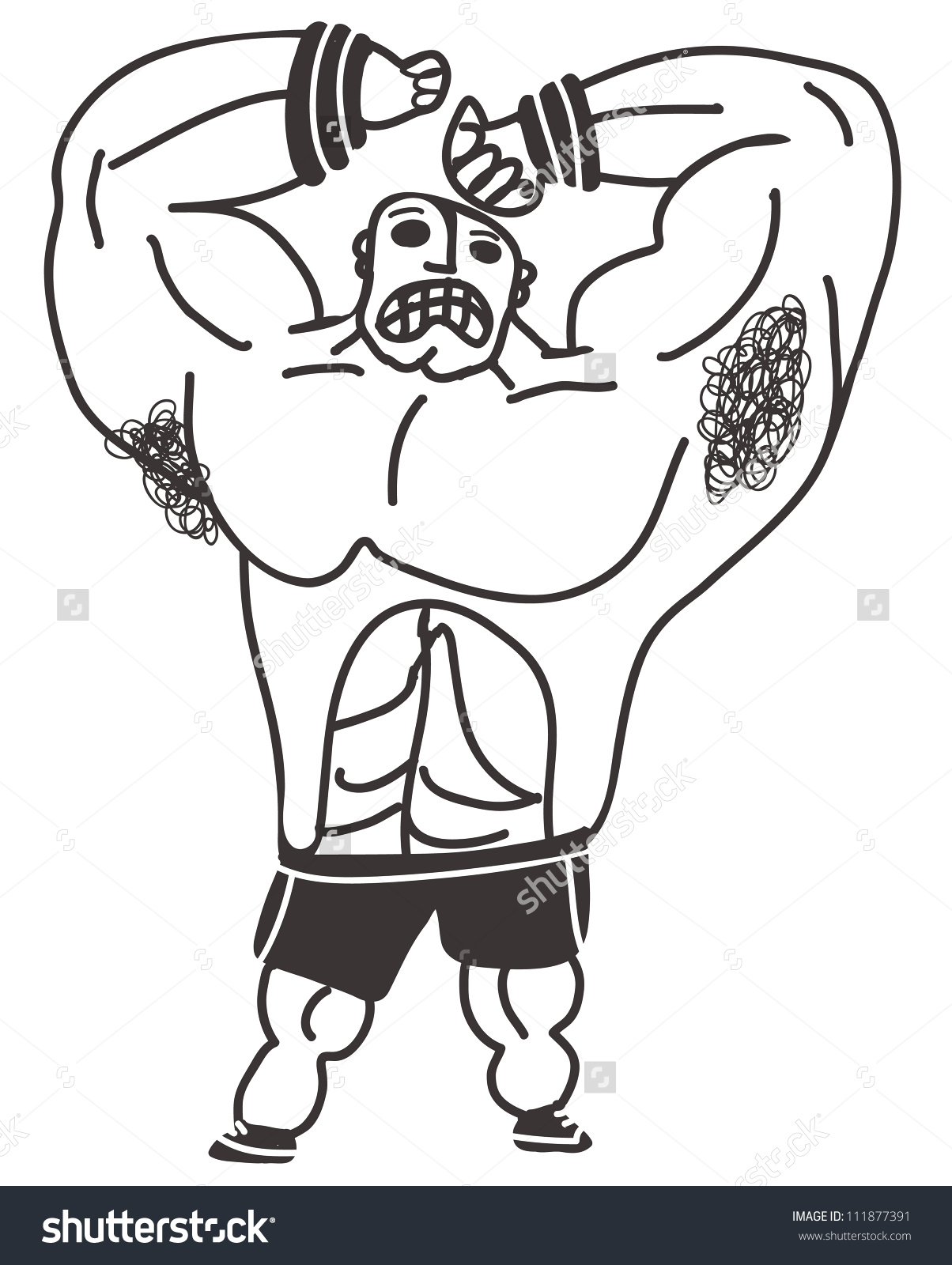 Armpit Hair Man Stock Vector Illustration 111877391 : Shutterstock.