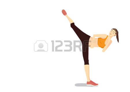 2,565 Kickboxing Stock Vector Illustration And Royalty Free.