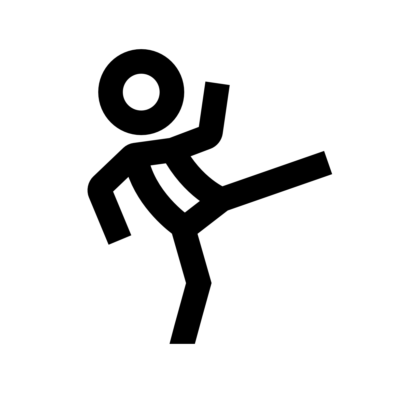 leg kicking body clipart - Clipground - 20.3KB