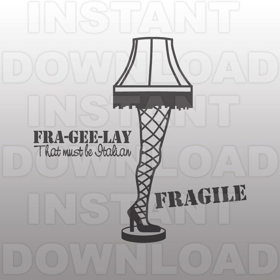 Leg Lamp svg File.