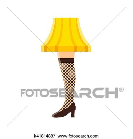 Womens Leg Lamp Clip Art.
