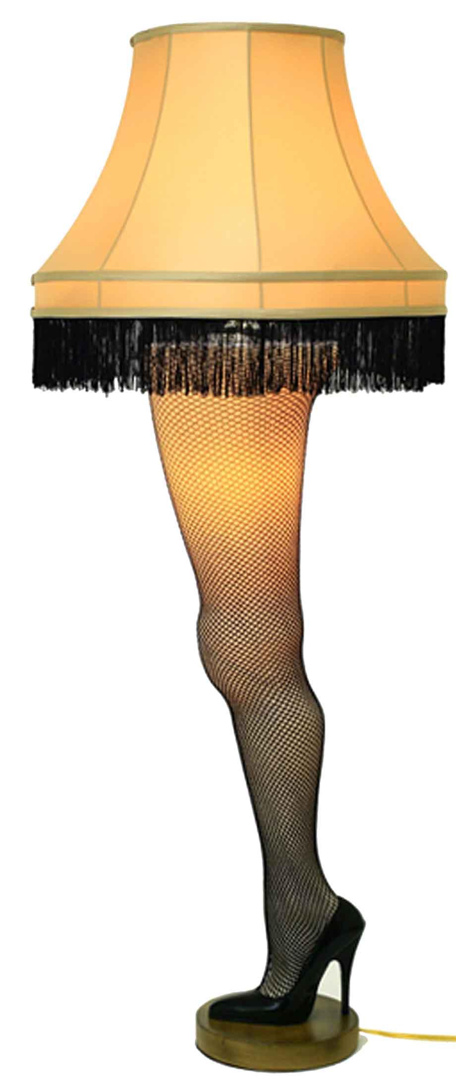 Christmas movie leg lamp.