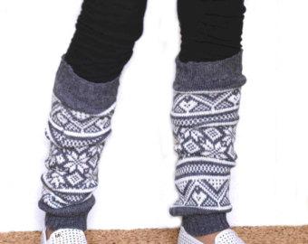 Women Leg warmers in Light Beige / Boot cuff / by KnittingMamas.