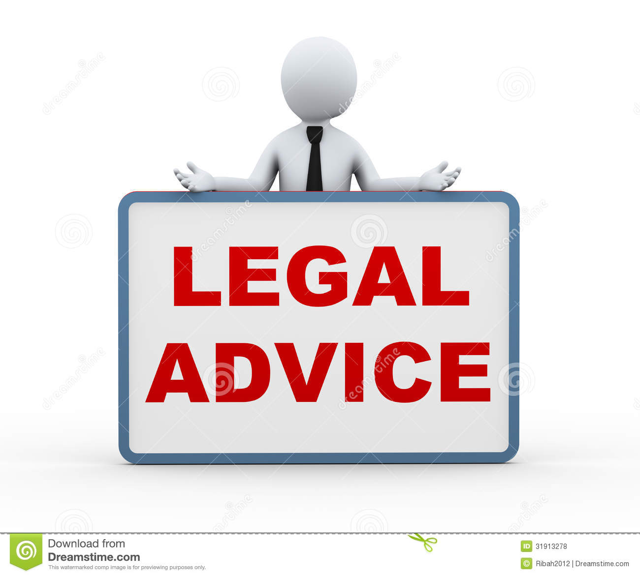 3d Person Presenting Legal Advice Royalty Free Stock Photos.