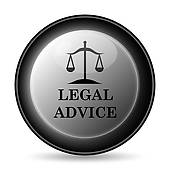 Clipart of Legal advice icon k20878711.