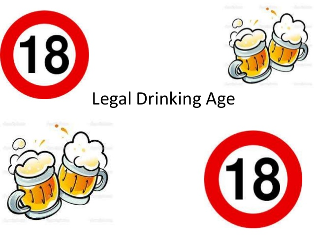 Legal drinking age.