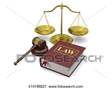 Law symbols Clip Art.