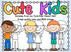 Kids Clip Art Freebie.