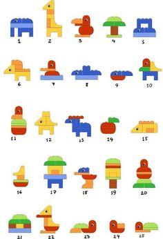 Schöne Ideen für Duplo, Duplo, Lego, kreativ, Legasthenie.