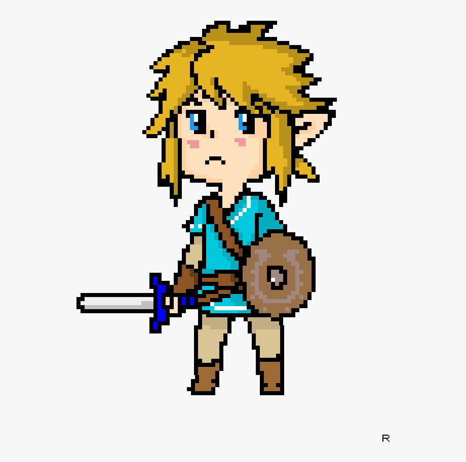 Legend Of Zelda Breath Of The Wild Link Pixel Art.