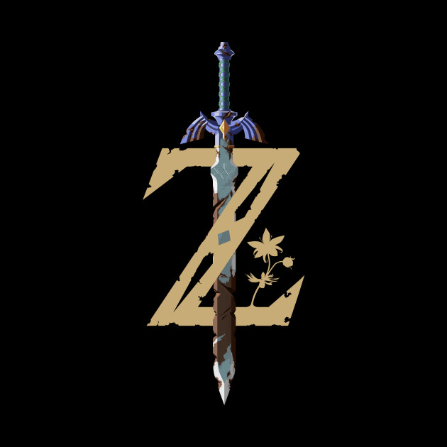 The Legend of Zelda: Breath of the Wild Master Sword Logo Pocket Shirt.