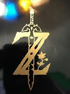 Details about Legend of Zelda Breath of the Wild Logo Vinyl Decal Sticker  Car Window Truck.