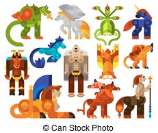 Mythical creatures Illustrations and Clipart. 2,104 Mythical.