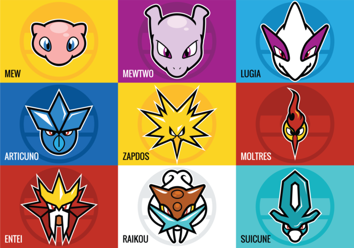 Legendary Pokemon Vectors.