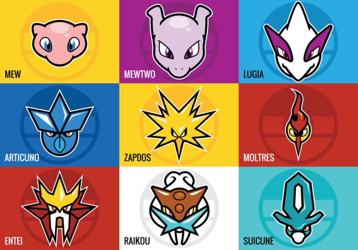 Legendary Pokemon Vectors.