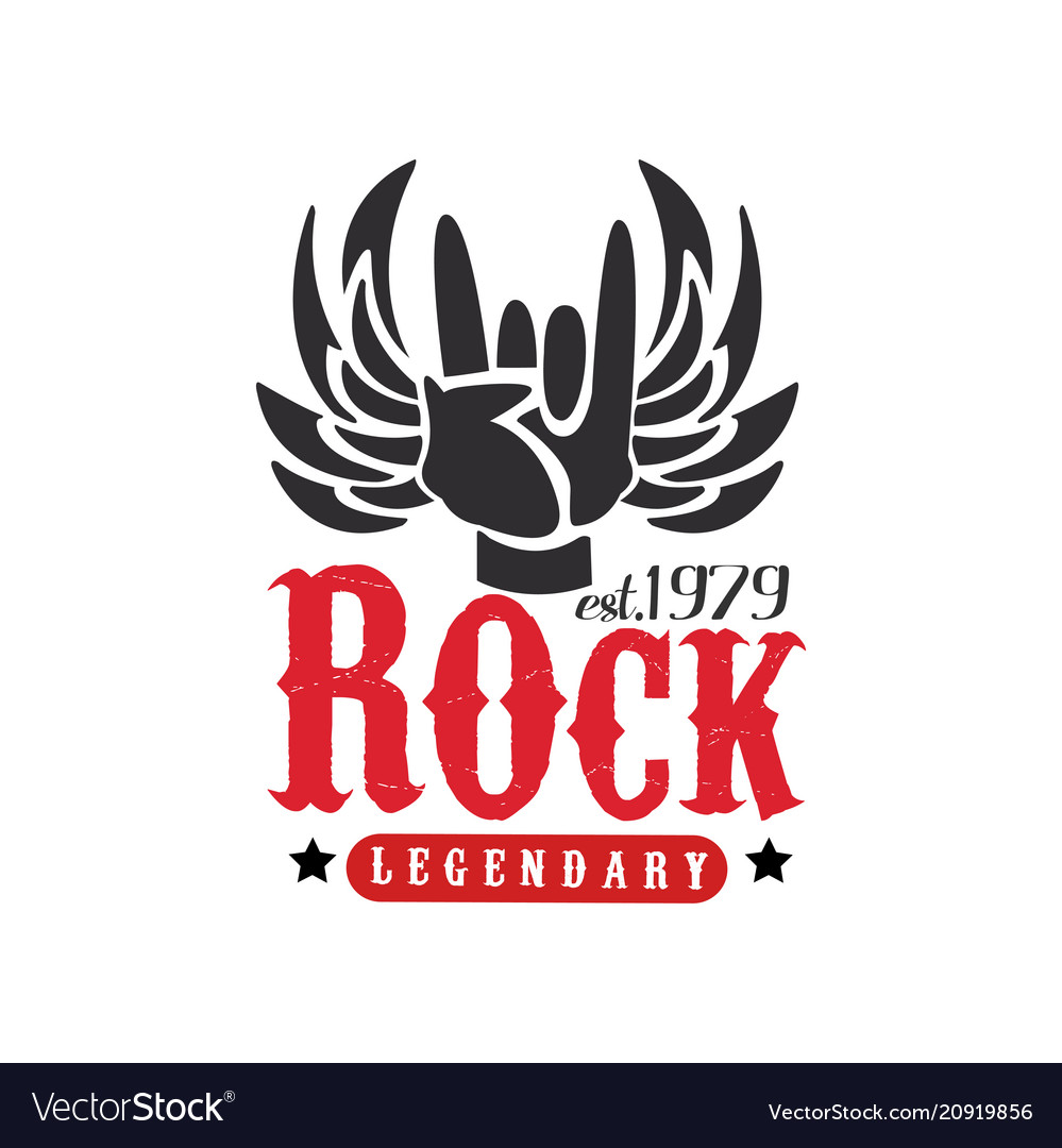 Rock legendary est 1979 logo design element with.